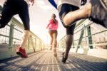 Three runners outdoor